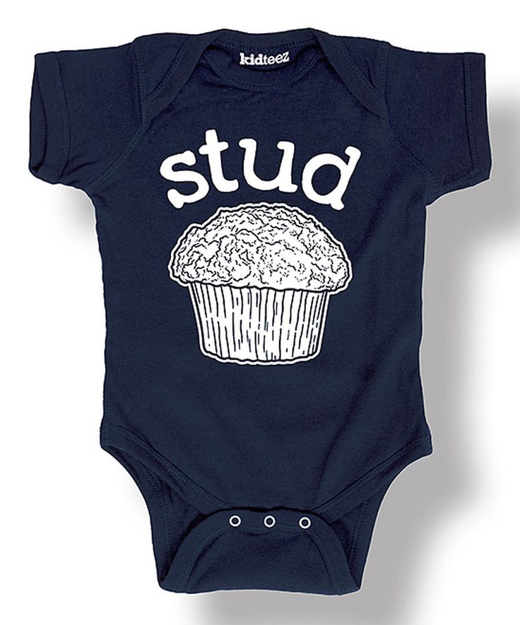 Look at this Navy 'Stud' Muffin Bodysuit - Infant on #zulily *so cute