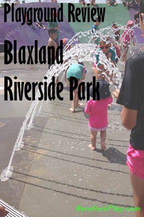 Sydney playground review blaxland riverside park; Barefoot Play