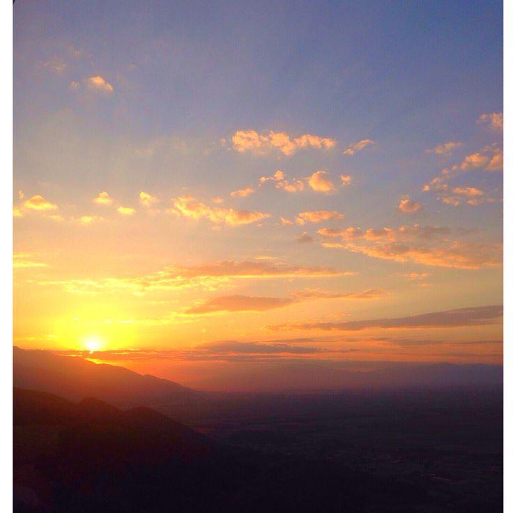 Sky on fire! Sunset, sky, Kavala, Greece