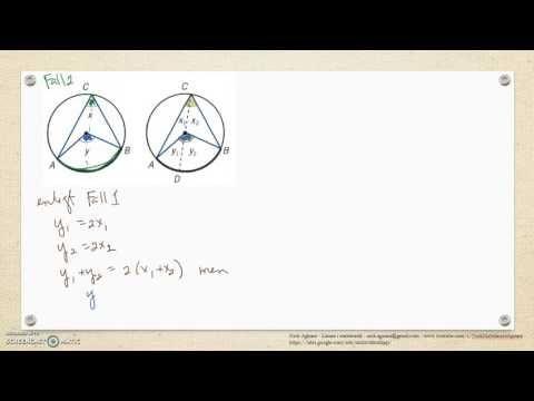 Genomgång av Matematik 5000 Ma 2b   Kapitel 3   Vinklar   Randvinklar oc...