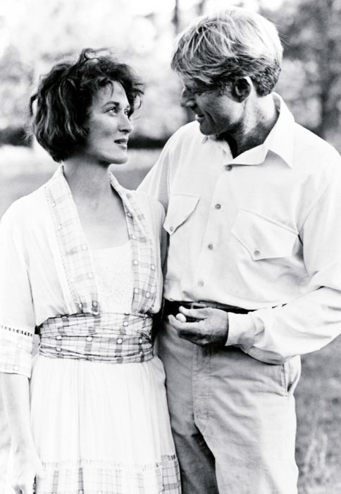 "Streep & Redford - behind-the-scenes candid shots from the filming of ""Out of Africa"""
