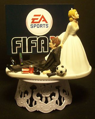 VIDEO GAME SOCCER FIFA FUNNY GROOM WEDDING CAKE TOPPER on eBay!