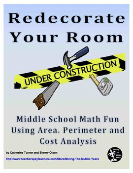 Redecorate Your Room is a Project based learning task. This Math activity requires students to apply their math skills (finding area and perimeter) to calculate the cost of redecorating their actual bedrooms.  Other math skills are included within this project (simple arithmetic calculations, finding multiple costs, calculating tax etc.)  There is a focus on nonfiction literacy skills - students are required to read building supply store flyers (either paper or online versions).