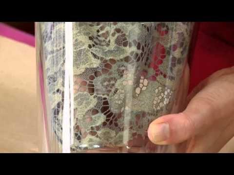 Мастер класс от Марата Ка «Настольная лампа с кружевным декором» - YouTube