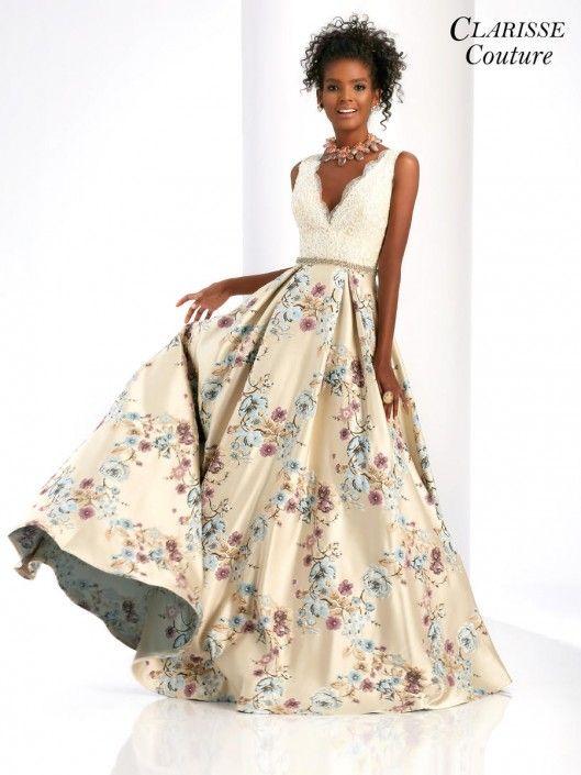 Unique Print Prom Dresses