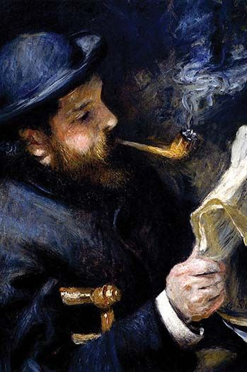 Claude Monet Reading a Newspaper Pierre Auguste Renoir 1872 Oil on canvas Private collection
