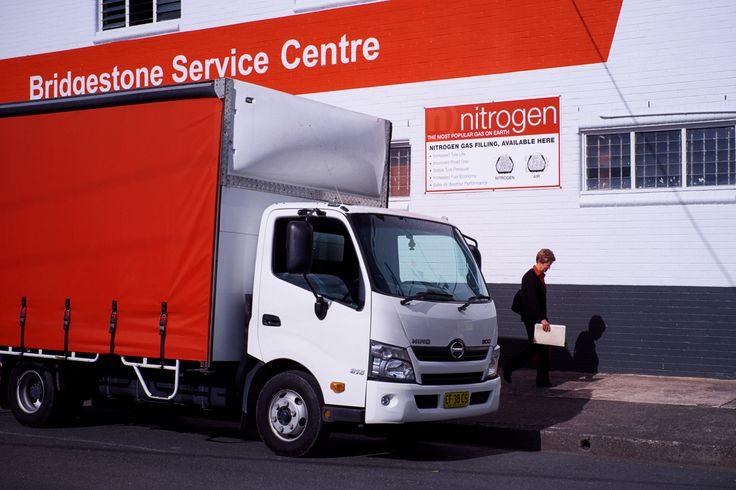 Taree Bridgestone Branded red truck
