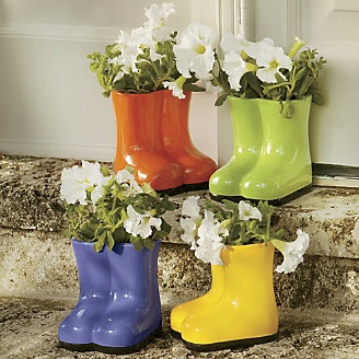 Garden Boot Planter From Through The Country Door Garden