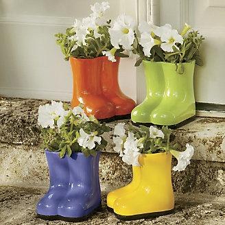 garden boot planter from through the country door