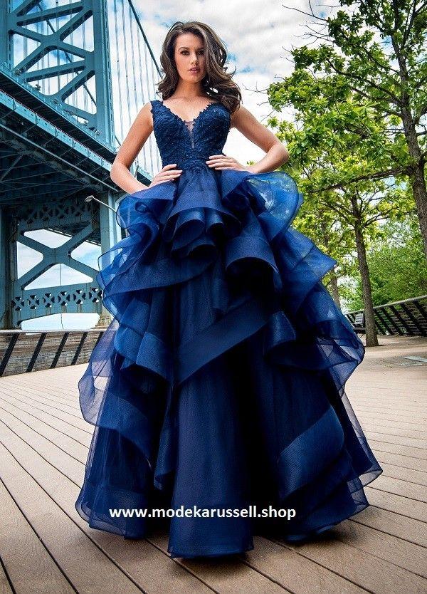 Extravagantes Abendkleid Serafina Blau