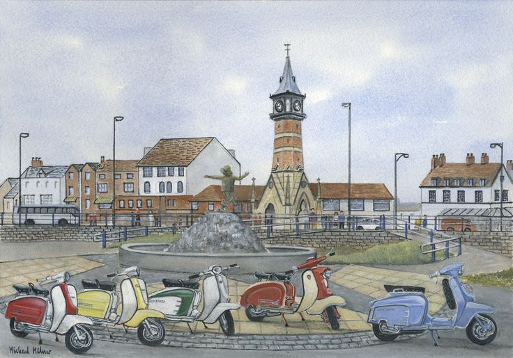 """006MM089 - The Italian Job visits Skegness - 16"""" x 12"""" Print Only £12.99 9.5"""" x 6.5"""" Mounted to 14"""" x 11"""" - £12.99"""
