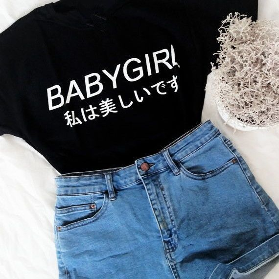 """BABYGIRL"" Top – #shirts #tops #fashion"