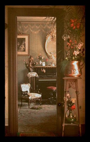 """original caption: """"Interior showing good examples of the 'Arts & Crafts' style"""" 