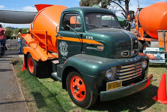 1950 Ford F-6 COE ready mix truck, at Santa Cruz County Fair 2010 - 03 by phrenologist, via Flickr