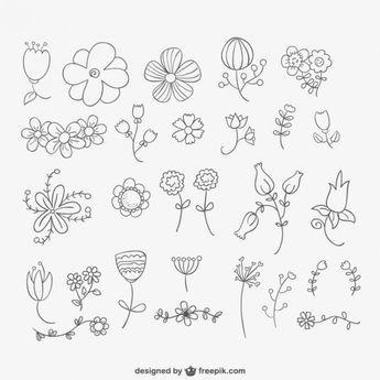 Getekend bloemen