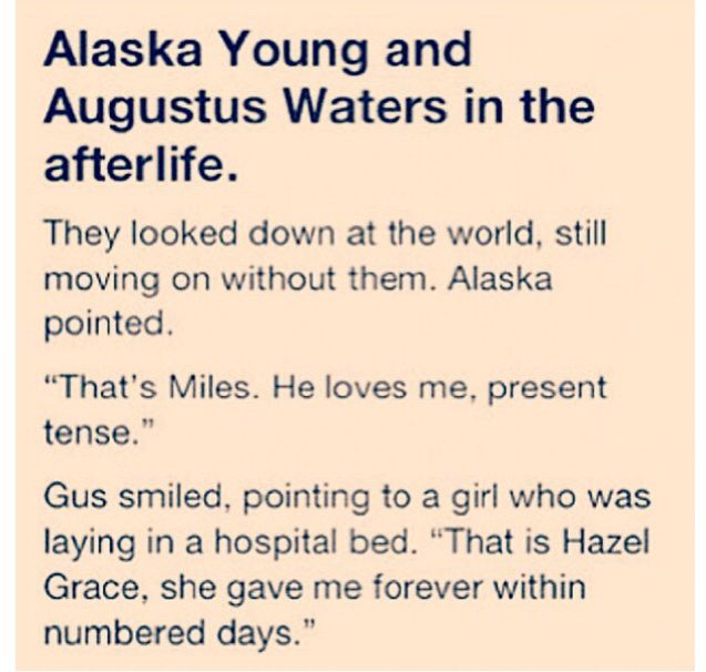 Looking For alaska Fault in our stars Alaska Young Agustus Waters