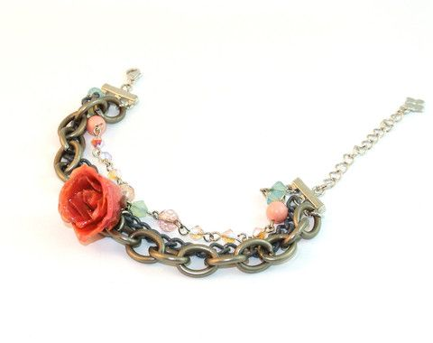 Colorful Play real rose bracelet Sarah Blue real flower jewellery collections