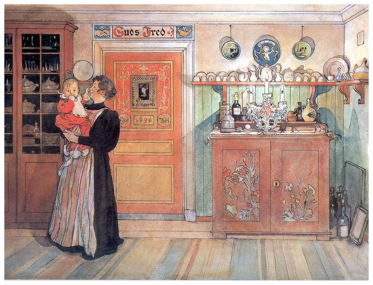 Between Christmas And New Year Carl Larsson Swedish Realist Painter
