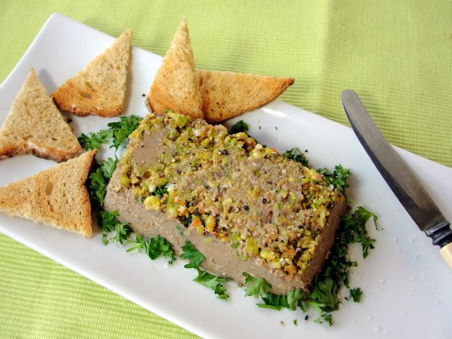 Paleo Chicken Liver and Pistachio Nut Pate