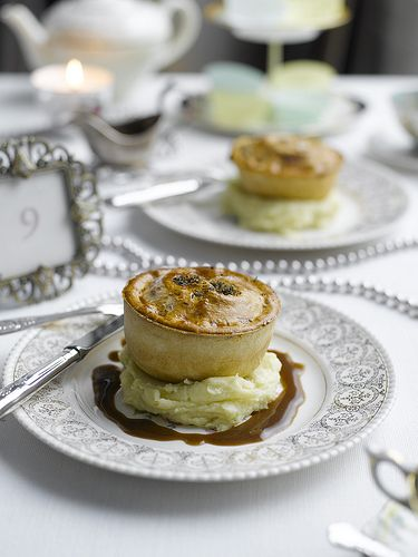 Posh Pie and Mash? Brought to you by Pieminister and Vintage Tea Sets