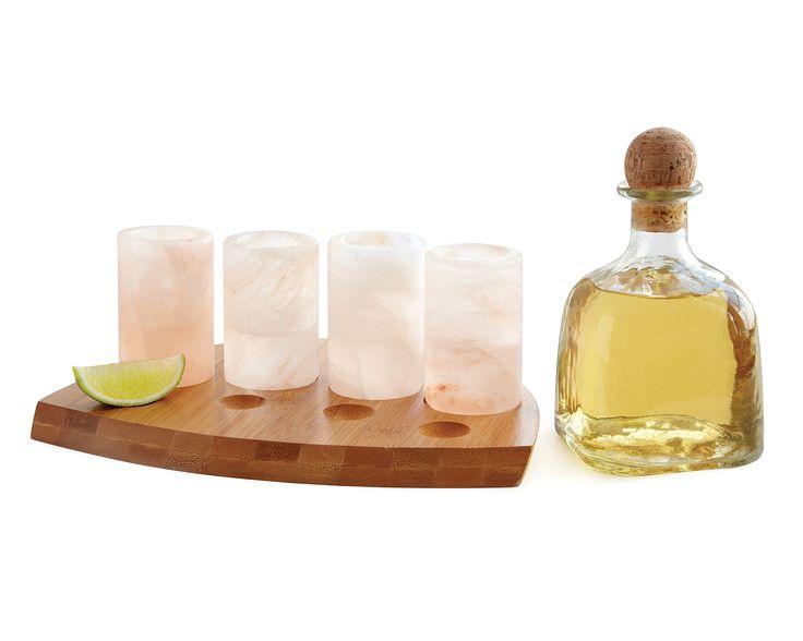 HIMALAYAN SALT TEQUILA GLASSES- SET OF 4 | Shot Glasses, Margaritas, Unusual Unique Barware, Whiskey | UncommonGoods