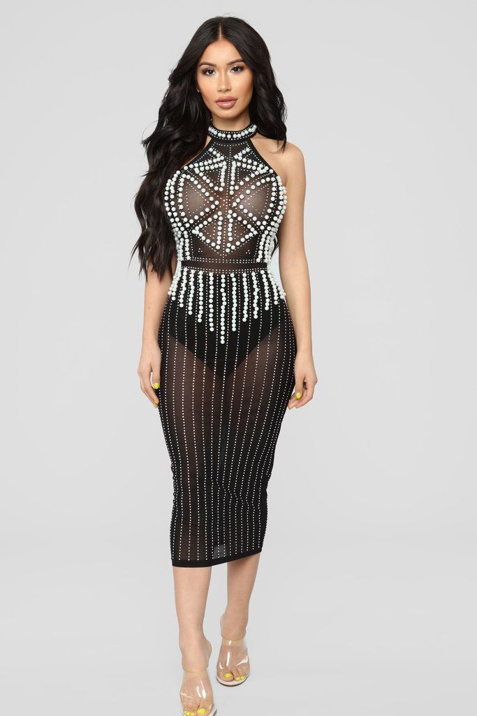 f7caa8154fab9 Diamonds And Pearls Mesh Dress - Black in 2019 | Goals! | Mesh dress ...