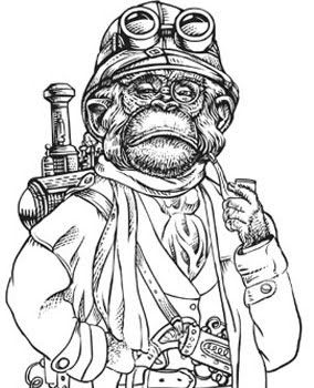 scary monkey coloring pages | 28 best My Heroes images on Pinterest | Heroes, Guns and ...