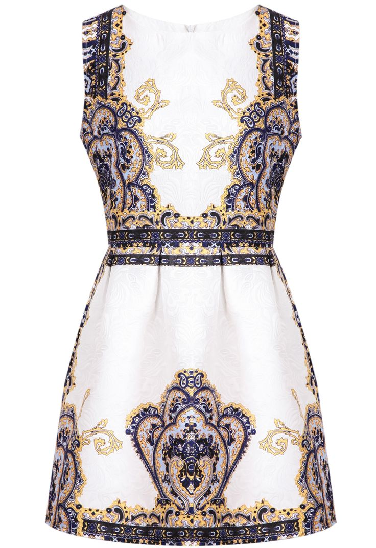 robe à jacquard motif floral -bleu  15.64