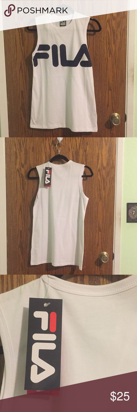 Hype Bae Fila sleeveless tee Muscle tank / sleeveless tee by Hype Beast sportswear brand Fila. New, never been worn. Fila Tops Muscle Tees