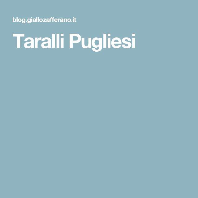 Taralli Pugliesi