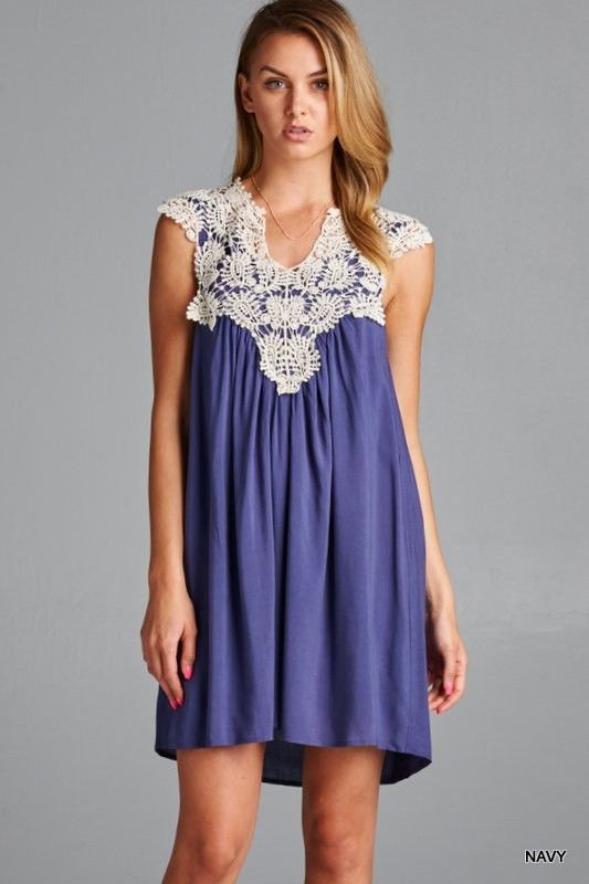 Ring The Alarm Lace Swing Dress – The Laguna Room