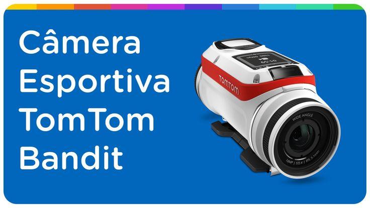 Câmera Digital Esportiva Tomtom Bandit Action Cam 16MP Modo GPS com Capa...