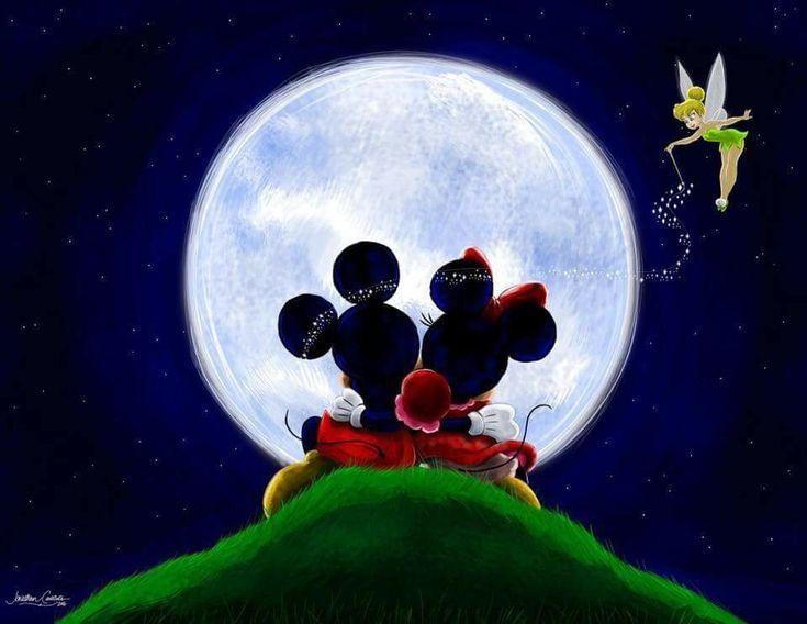 Микки маус на луне картинка