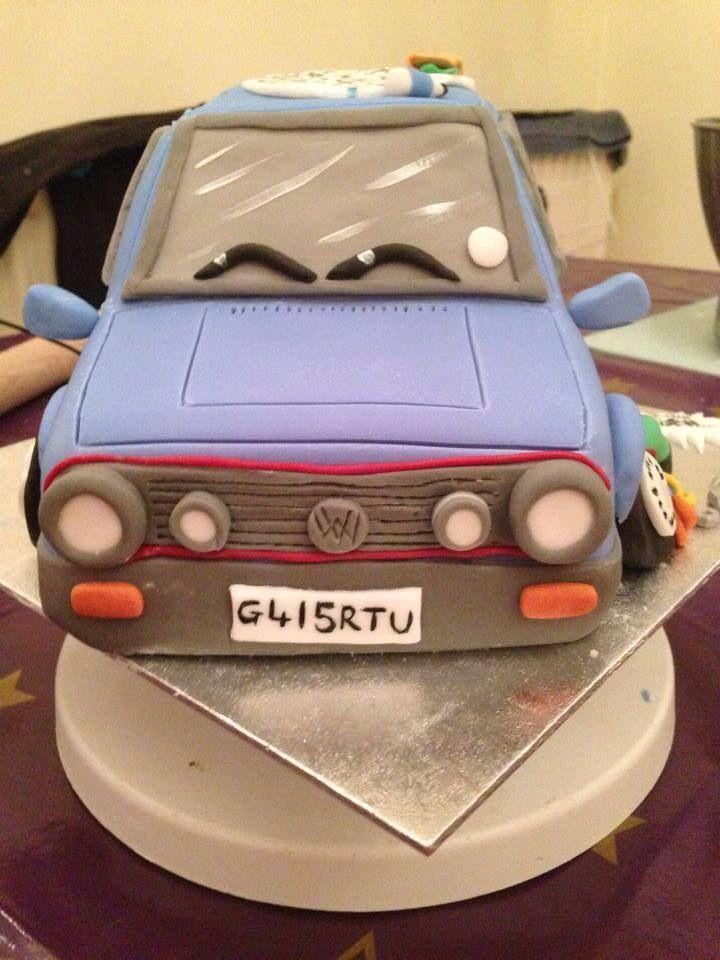 Golf gti birthday cake hand made by Emily watson's cake creation https://m.facebook.com/EmilysCakeCreation