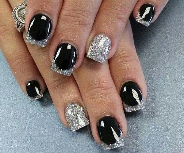 New year nail art design step by step