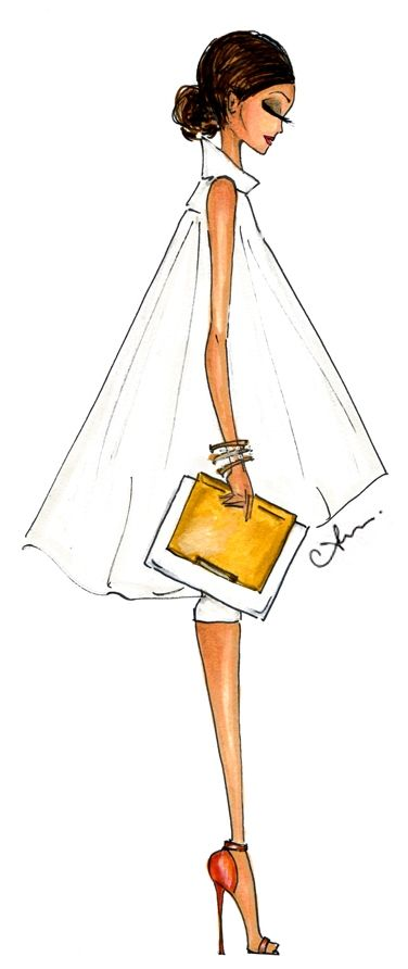 Anum Tariq Illustrations - Alice + Olivia Spring 2015
