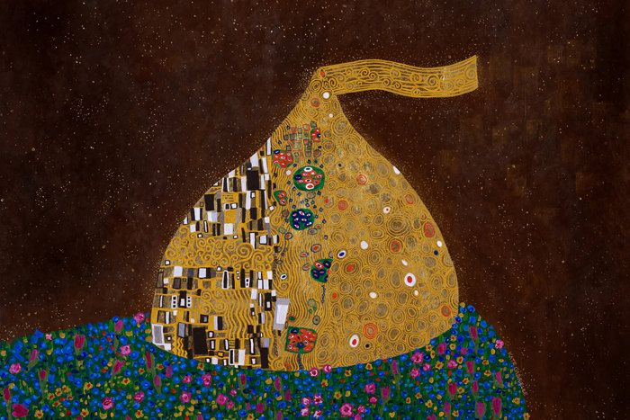 The Kiss // Klimt chocolate pun art