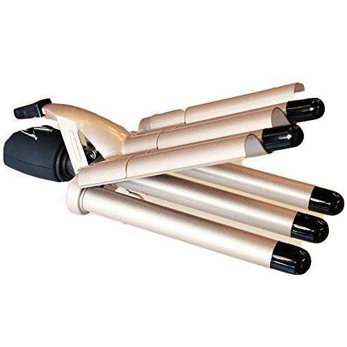 Plancha Rizador de Pelo Tubos para 5 Ondas 45 W Efecto Rizos Profesional New