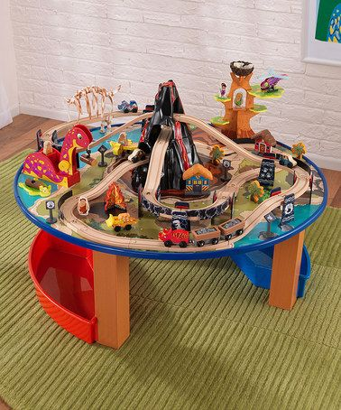 {Dinosaur Train Table Set by KidKraft} Too cool.