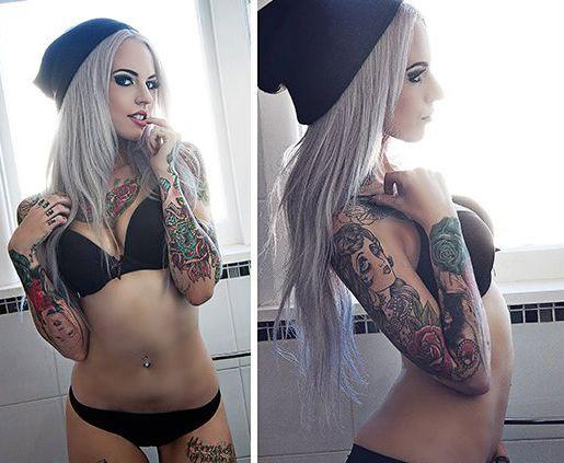 sexy female nudist in public