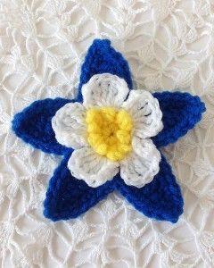 Columbine Flower – Free Crochet Pattern