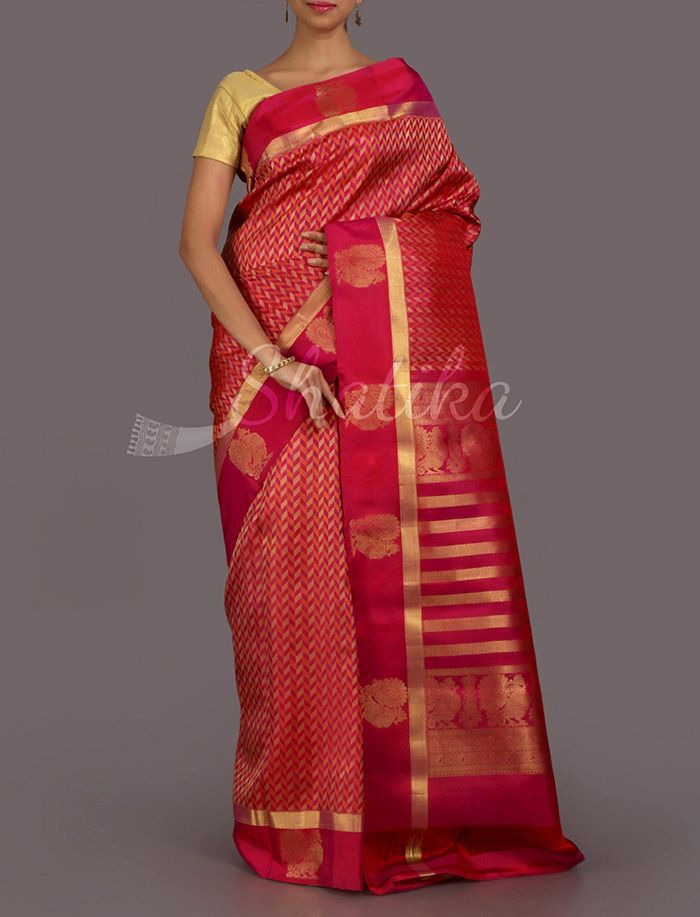 Ashalata Mat Weave Masti Real Zari #DharmavaramSilkSaree