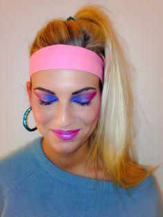 Eighties makeup by me!