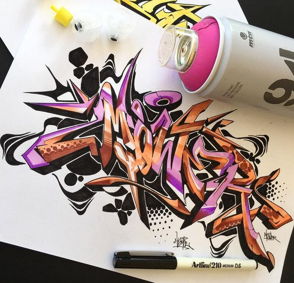 Graffiti Letter : Amazing Sketch Draw 3D Wildstyle Graffiti Alphabet Letter With…