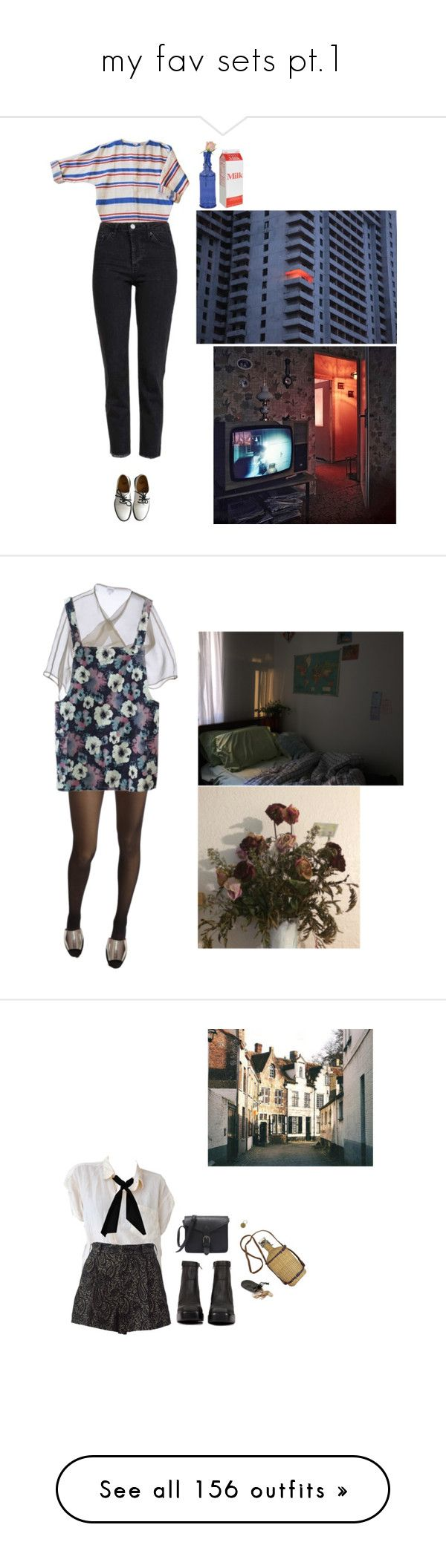 """""""my fav sets pt.1"""" by ellaaa-nielsen ❤ liked on Polyvore featuring Dr. Martens, Topshop, Armani Collezioni, Wolford, Maiyet, Jeffrey Campbell, donni charm, Ultimate, Jayson Home and Le Bourget"""