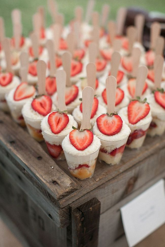 Strawberry shortcakes party food idea
