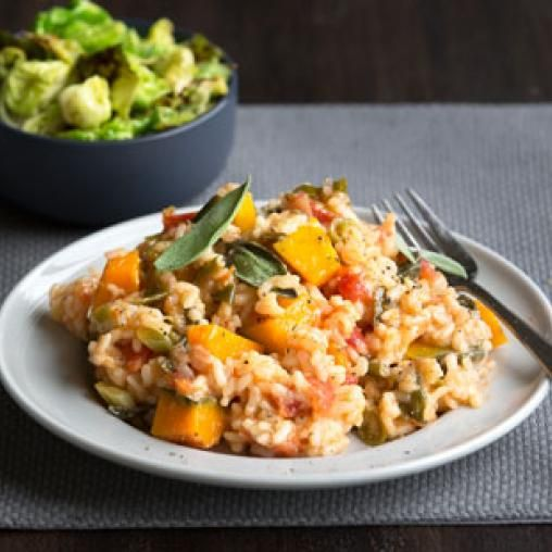 Oven-baked pumpkin and sage risotto