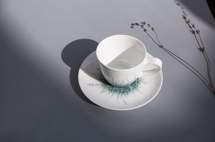 Lalala Blanc Tea cup,  #porcelain #Tea cup #220ml #handthrown #handpainted Finest #Jingdezhen Porcelain #Teacup #coffeecup by Spherebol