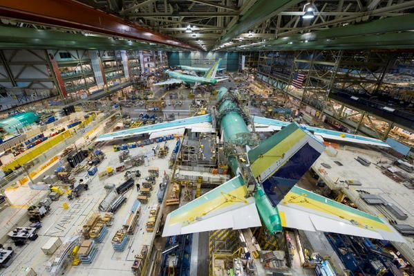 Friday in the Factory: Always amazing to see the Queen of the Skies in our 747-8 factory in Everett - Boeing