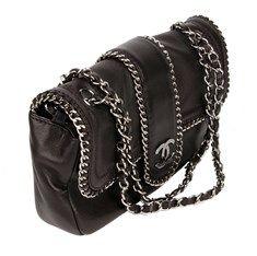 Chanel Madison Τσάντα Μαύρη με Aλυσίδες